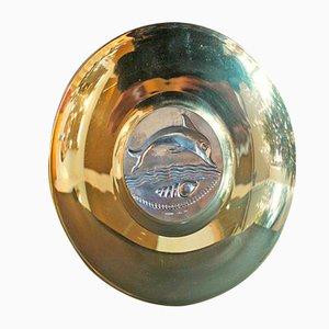 Vintage Teller mit Delfin-Motiv von Ilianis Lalaounis
