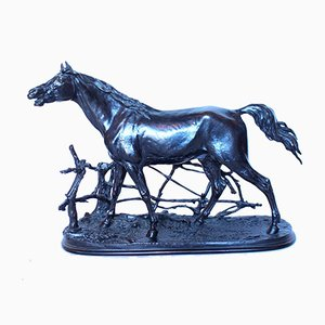 Antique Arabian Stallion Sculpture by Pierre-Jules Mêne, 1870s