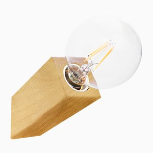 Pirn Wandlampe mit Halterung aus Buche von Andrea Pregl für Ulap design