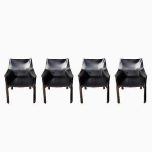 Vintage Modell 413 CAB Stühle von Mario Bellini für Cassina, 1991, 4er Set