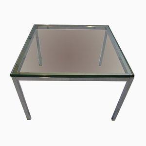Couchtisch mit verchromtem Stahlgestell & Glasplatte von Florence Knoll für Knoll, 1960er