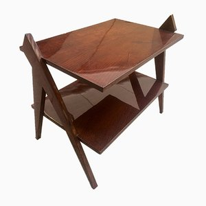 Geometric Side Table by Bernard Durussel, 1950s