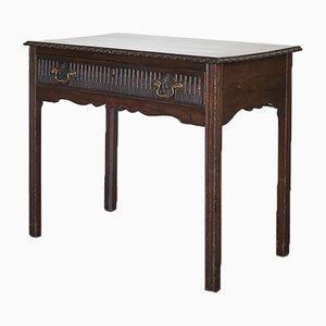 18th Century Carved Mahogany Side Table