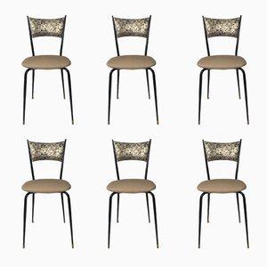 Mid-Century Italian Chairs, 1960s, Set of 6