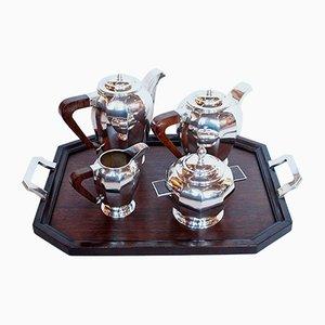 Tee- oder Kaffeeservice aus Silber, 1930er