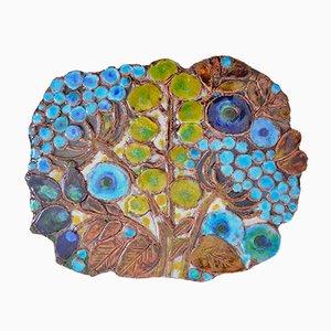 Piatto da parete Mid-Century in ceramica di Renate Rhein, anni '60