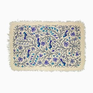 Birds Blue Rug from Tikau