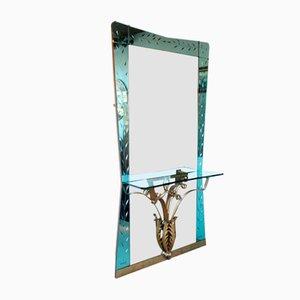 Specchio vintage con consolle di Pier Luigi Colli, anni '50