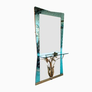 Vintage Mirror with Console by Pier Luigi Colli, 1950s