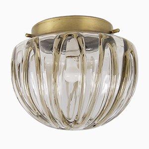 Lampada da soffitto grande in vetro soffiato a mano, anni '70