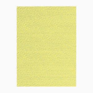 Papel pintado Happy Rain amarillo y plateado de Marta Bakowski para La Chance, 2018