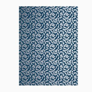 Blue & Silver JER Wall Covering from La Chance, 2018