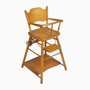 Mid-Century Italian Beech Children's Highchair, 1960s
