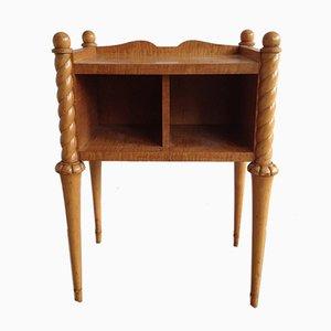 Mesa auxiliar vintage de sicómoro y madera de arce, años 40