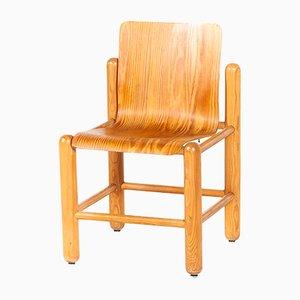 Moderne Esszimmerstühle aus Pinienholz, 1960er, 6er Set