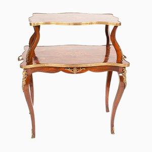 Zweistufiger antiker französischer Napoleon III Tisch