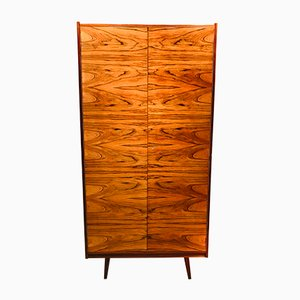 Vintage Minimalist Walnut Veneered Wardrobe, 1960s