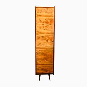 Walnut Veneered Wardrobe with Single Door, 1960s