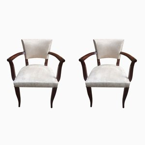 Art Deco Bridge Side Chairs, 1930s, Set of 2