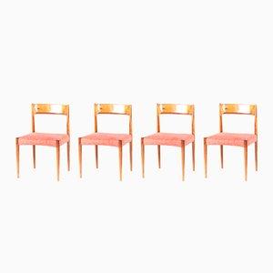 Dänische Mid-Century Esszimmerstühle aus Palisander, 1960er, 4er Set