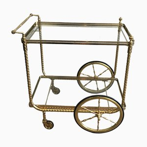 Neo-Classical Brass Drinks Trolley, 1940s