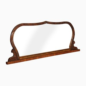 Art Deco Walnut Beveled Mirror by Gaetano Borsani
