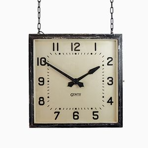 Double Sided Factory Clock from Gents of Leicester, 1920s