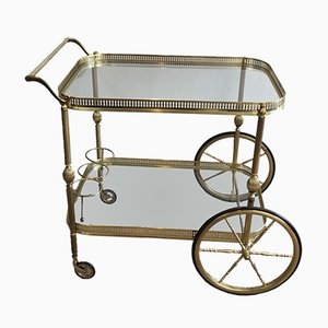 Neo-Classical Brass Drinks Trolley, 1970s