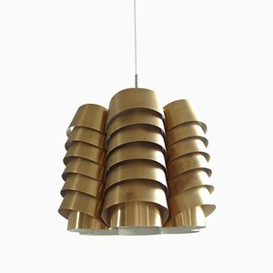 Swedish Brass Pendant by Hans Agne Jakobsson, 1960s