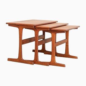 Tavolini moderni in teak di Kai Kristiansen per Vildbjerg Møbelfabrik