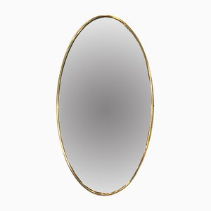 Oval Brass Mirror, 1940s