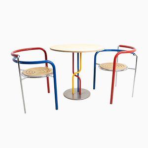 Vintage Dark Horse Table and Chairs by Thygesen & Sørensen for Botium, 1980s