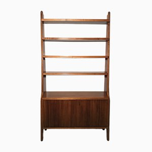 Italian Walnut Bookcase, 1940s