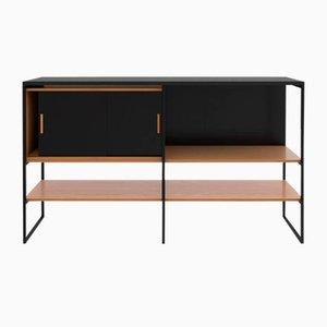 Credenza nr. 601 in quercia bianca e granito nero di Modiste Furniture, Stati Uniti