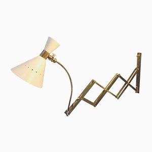 Lámpara de pared ajustable Mid-Century, años 50