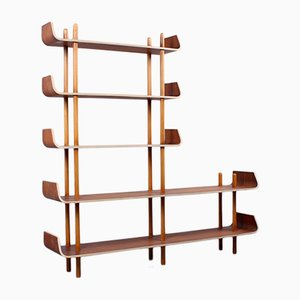 Teak Sticks & Shelving Bookcase by Willem Lutjens for Gouda den Boer, 1950s