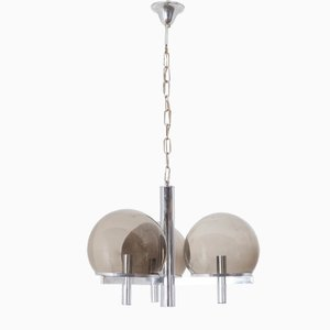 Lustre Club Mid-Century par Gaetano Sciolari pour Lightolier & Vianne Glass Co.