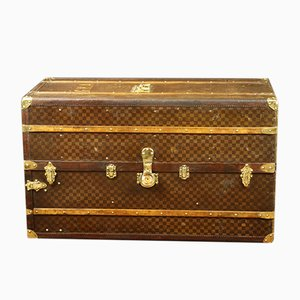 Vintage Model R2659 Leather & Brass Trunk