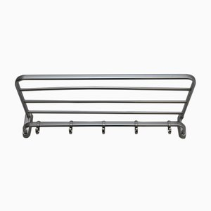 Bauhaus Style Polished Aluminium Coat and Hat Rack, 1940s
