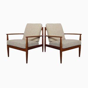 Dänische Lehnstühle aus Teak von Grete Jalk für France & Daverkosen, 1960er, 2er Set