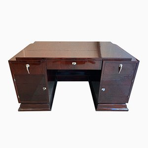 Large Modernist Palisander Desk, 1930s
