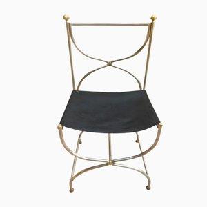 Stuhl aus Stahl & Messing, 1970er