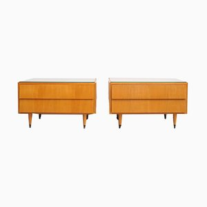 Ash Nightstands by Erich Stratmann, 1950s, Set of 2