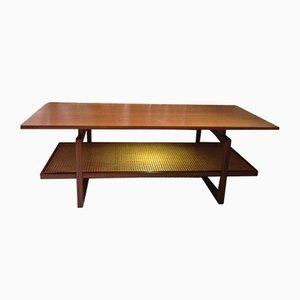 Teak & Wicker Coffee Table by Victor Wilkins for G-Plan, 1960s