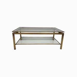 Brass Rectangular 2-Tier Siro Coffee Table by Ben Demmers for BD Design, 1980s