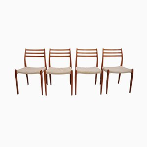Dining Chairs by Niels O. Møller for J.L. Møllers, 1950s, Set of 4