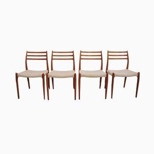 Esszimmerstühle von Niels O. Møller für J.L. Møllers, 1950er, 4er Set