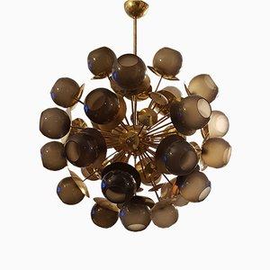 Lámpara de araña Sputnik grande vintage de Fabio Bergomi
