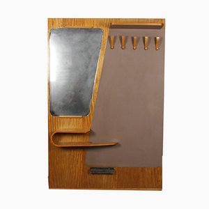 Czech Mirror and Coat Rack from Kovo Drevo Prerov, 1964