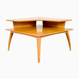 Vintage Two-Tier Corner End Table from Heywood Wakefield, 1950s